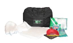 Ideal para uso em viaturas, caminhões, armários para emergência e no caso  de acidente o KIT ajuda no rápido atendimento. A bolsa é feita de lona  preta com ... 0c6f1fb5d3
